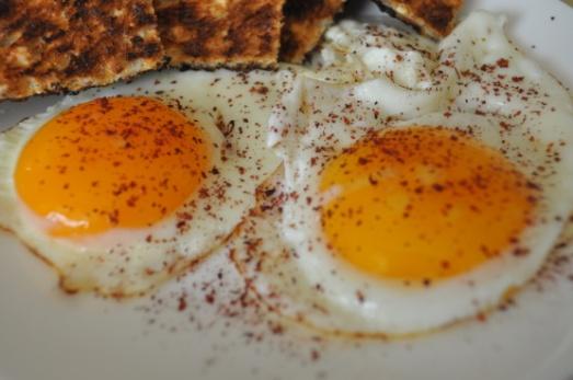 sumac on eggs